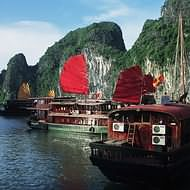 Holidays to Hanoi and Vietnam - Halong Bay junks