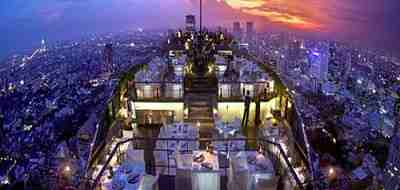 After drinks head to Vertigo, one of the world's highest open air restaurants