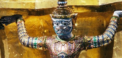 Temple guardian at the Grand Palace