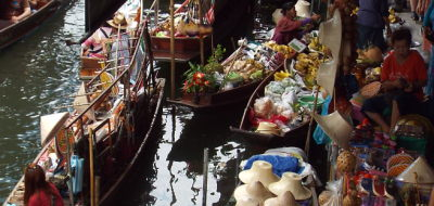 The Floating Market at Damnoen Saduak