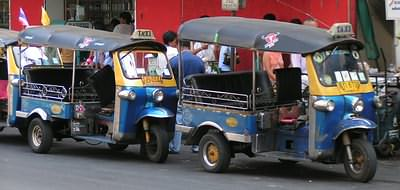 Grab a tuk tuk - but bargain hard first!