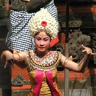 Holidays to Bali and Lombok - Balinese dancer at Batubulan