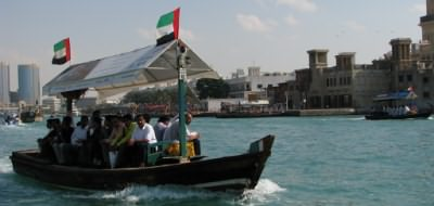 Traditional Abra on the creek in Dubai
