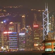 Holidays to Hong Kong - Hong Kong island at night