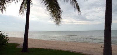 The beach at they Hyatt Regency Hua Hin