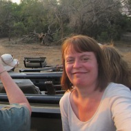 Karen on safari at Phinda Game Reserve, South Africa