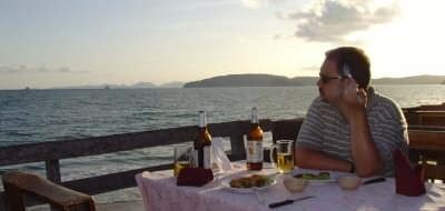 Checking things out first hand - testing the food and drink in Krabi (all in the name of service)