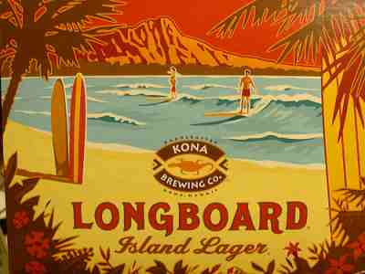 Longboard lager at the Kona Brewery, Hawaii