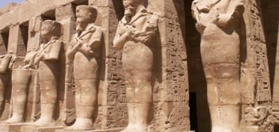 Statues at the Temple of Hapshetsut, West Bank Luxor