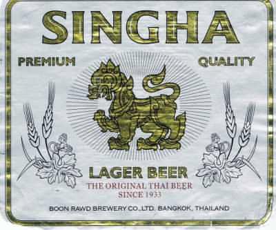 Thailand's Singha beer