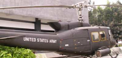 US helicopter at the War Remnants Museum, Saigon