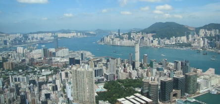 Holidays to Hong Kong and Macau with Escape Worldwide - Victoria Harbour from the observation deck at the KCC